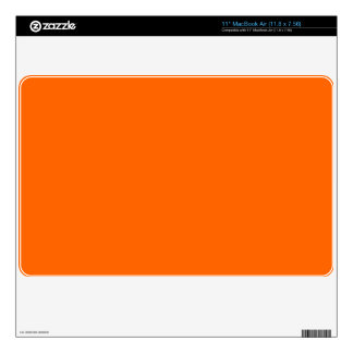 """Orange Solid Color Background Template Skin For 11"""" MacBook Air"""