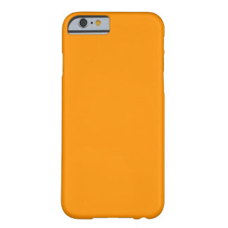 Orange Solid Color - Elegant Pattern Barely There iPhone 6 Case