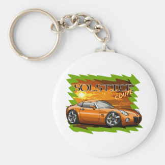 Orange Solstice Coupe Keychain