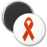 Orange Solve the Mystery Ribbon Refrigerator Magnets