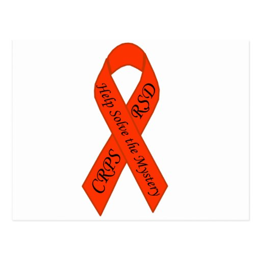 Orange Solve the Mystery Ribbon Postcard