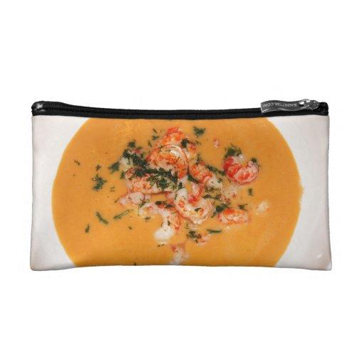 Orange soup makeup bag