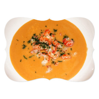 Orange soup card