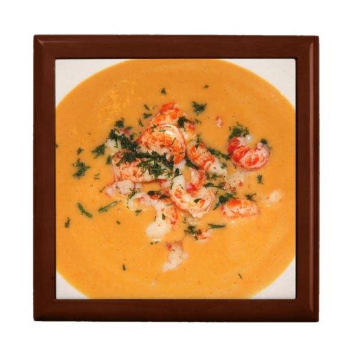 Orange soup trinket box