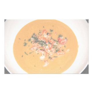 Orange soup stationery