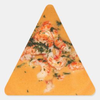 Orange soup triangle sticker