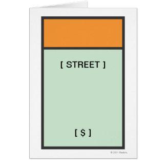 Orange Space Card