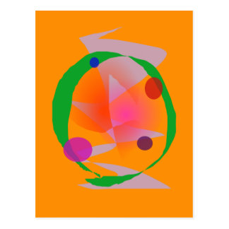 Orange Space Postcard