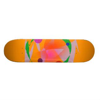 Orange Space Skate Decks