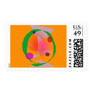 Orange Space Stamp
