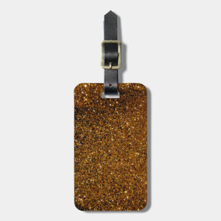 Orange Sparkles Bag Tag