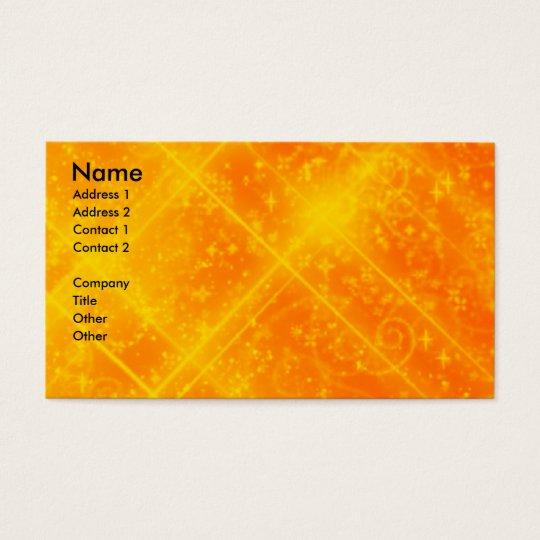 Orange Sparkles Business Card