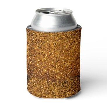 Halloween Themed Orange Sparkles Can Cooler