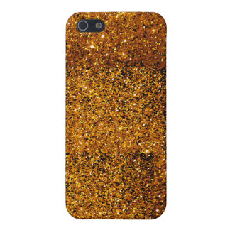 Orange Sparkles Case For iPhone SE/5/5s