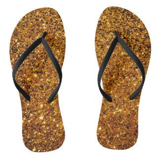 Orange Sparkles Flip Flops