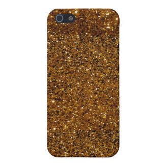 Orange Sparkles iPhone SE/5/5s Cover