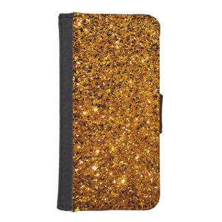 Orange Sparkles iPhone SE/5/5s Wallet Case