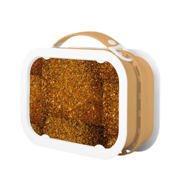 Halloween Themed Orange Sparkles Lunch Box