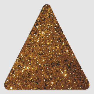 Orange Sparkles Triangle Sticker