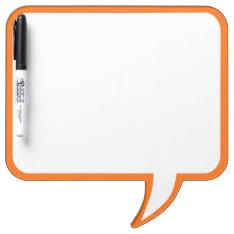 Orange Speech Bubble Wall Decor Customize This Dry-erase Board at Zazzle