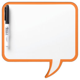 Orange Speech Bubble Wall Decor Customize This Dry-Erase Board