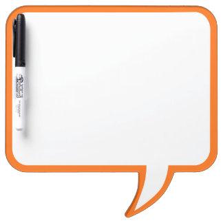 Orange Speech Bubble Wall Decor Customize This Dry-Erase Board