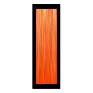 Orange Speed Bookmark Double-Sided Mini Business Cards (Pack Of 20)