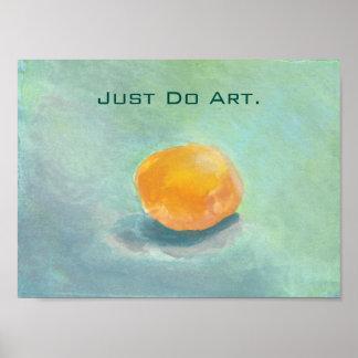 Orange Sphere Still Life. Just Do Art. Print