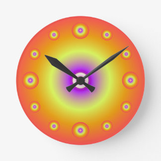 Orange Sphere Wall Clock
