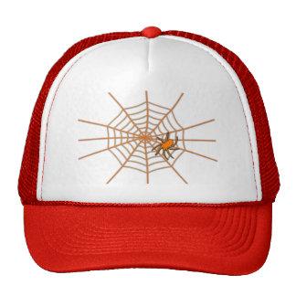 Orange spider on a glowing web - Trucker hat