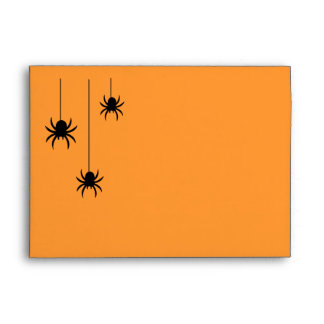Orange Spiders and Lace Invitation Envelope