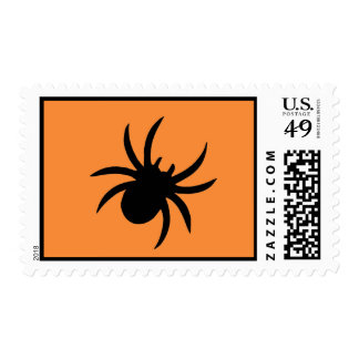 Orange Spiders and Lace Postage