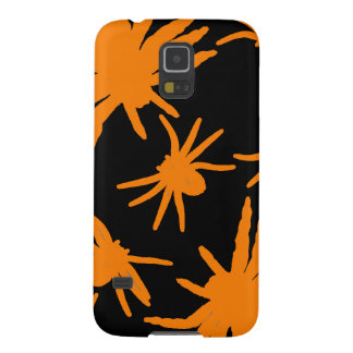 Orange Spiders With Black Background Galaxy S5 Cover