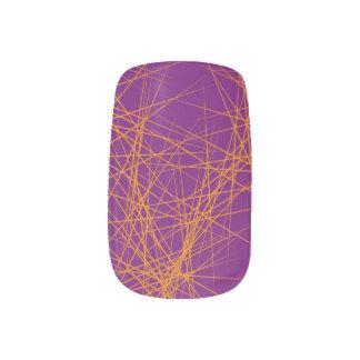 Orange spiky minx nail wraps