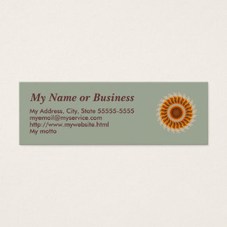 Orange Spin Template Business Card