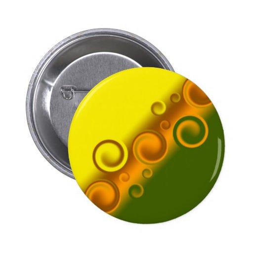 orange spiral Button