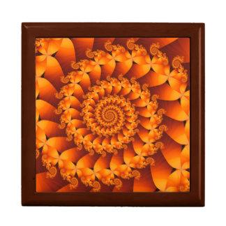 Orange Spiral Fractal Gift Box
