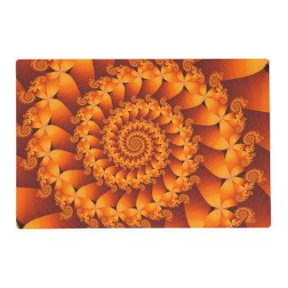 Orange Spiral Fractal Placemat