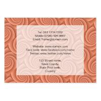 Orange Spiral in brushed metal texture Business Card Template (<em>$24.95</em>)