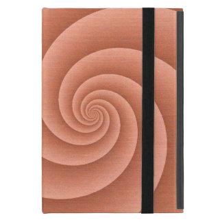 Orange Spiral in brushed metal texture Case For iPad Mini