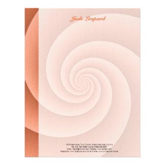 Orange Spiral in brushed metal texture Letterhead