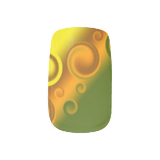 orange spiral Minx Nails Minx® Nail Art
