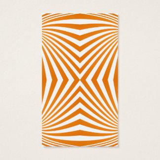 Orange spiral pattern business card