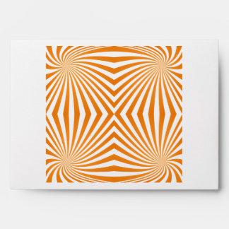 Orange spiral pattern envelopes