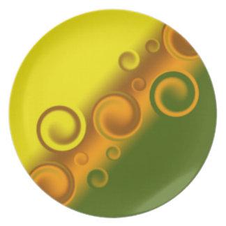 orange spiral Plate