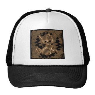 Orange Spiral Smoke Teddy Bear Trucker Hat