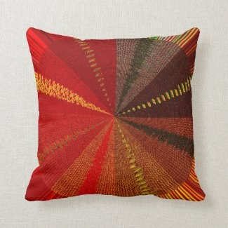 Orange Spiral Vortex Pillow