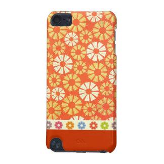 Orange Spirals iPod Touch Case