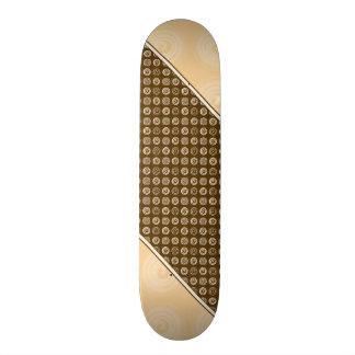 Orange Spirals Pattern Skateboard Decks