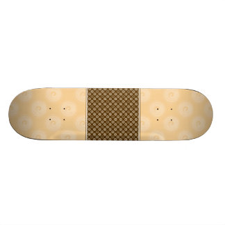 Orange Spirals Pattern Custom Skate Board